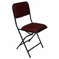 Om Woods Black Prime Cushion Metal Folding Chair