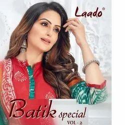 Cotton Multicolor Laado Launched Batik Special Vol 2, For New