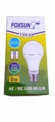 Foxsun Ceramic 9W LED AC DC Bulb