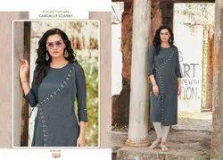 Rayon Ladies Designer Kurtis