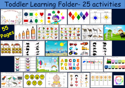 First Learning Folder, Baby Busy Book, English