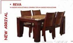 Mobel Furniture Marble Top IH-104 Reva Dining Table Set