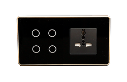 LUMI Smart Wifi/Z-wave Modular Touch Switch 4Touch 1 Socket