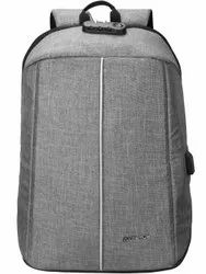 Polyester Gray Cosmus Anti-Thieft Backpack, Number Of Compartments: 1, Bag Capacity: 18 Lt