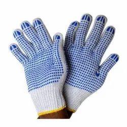 SS & WW Make White On Blue Dotted Hand Gloves 40-45 Gram