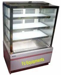 Rectangular Floor Standing Commercial Food Counter, For Restaurant