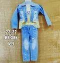 Blue Kids Girl Western Wear