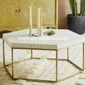 Hexadic Galaxy Bone Inlay Coffee Table