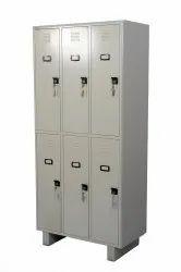 Gray 6 Door Personal Locker and industrial lockers