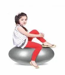 Lyra Churidar Kids Red Lycra Legging, Size: 28