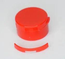 Red Round Plastic Flip Top Closure