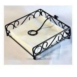 Black Mild Steel Free Unit Tissue Paper Holder, For Hotel,Restaurant