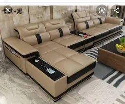 Wooden Modern L Shape Modular Sofa, For Home, Living Room