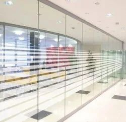 White PVC Office Partition Glass Film, Packaging Type: Roll