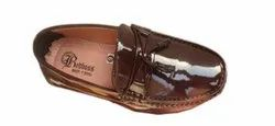 Brown Mens Casual Leather Loafer Shoes