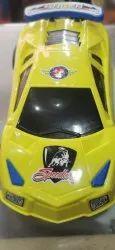 Plastic Orange Car Friction Toy