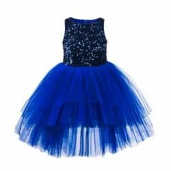 Blue High Low Dress TBKF2011BL, Size: 2-12 Years