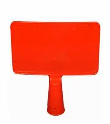 Red PVC Cone Message Plate, For Road Safety, Size: 15
