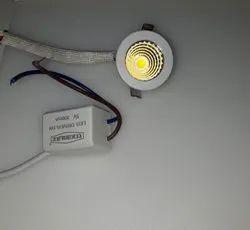 Cool White Round 1 watt NB1 Teknolite Aluminum LED Spot Light