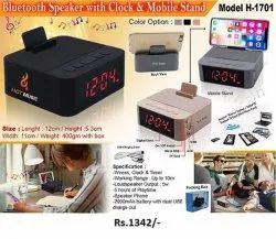 Bluetooth Speaker With Clock & Mobile Stand