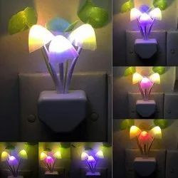 Fancy Mushroom Shape Automatic with Smart Sensor LED Color Changing Light Lamp.