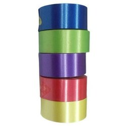 Crafts Plastic Ribbon Size:-12mm/ Half Inch Length:-10 Meter Each Roll ( Pack of 5 Pcs