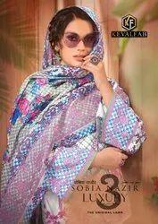 Keval Fab Sobia Nazir Vol 3 Pure Lawn Karachi Printed Dress Material Catalog