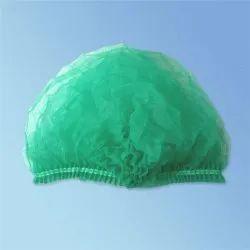 Green Non Woven Disposable Bouffant Cap