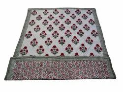 Red Floral Reversible Cotton Quilt