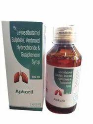 Apkoril Levosalbutamol Sulphate, Ambroxol HCl & Guaiphenesin Cough Syrup, 100 ml