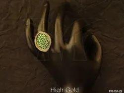 Rhombus Shape Thewa Finger Rings