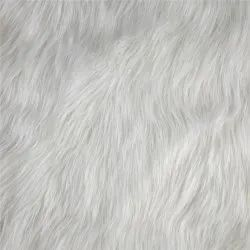 Plain Gray Faux Fur Fabric, For Clothing, 100-150