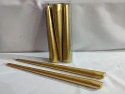 Pillar Taper Golden 3 Pcs