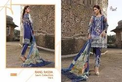 Rangrasiya Lawn Collection By Shree Fabs Cotton Print With Embroidery Pakistani Suits