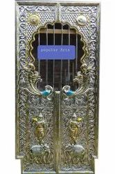 Carved German Silver Temple Door, Size/Dimension: 6x3 Feet (lxw)