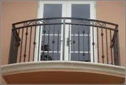 Black Mild Steel Balcony Railing, For Home, Size: 3 Feet (height)