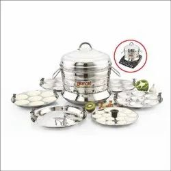Stainless Steel Commercial Food Warmer DIAMOND STEAMER IDLY PANNAI