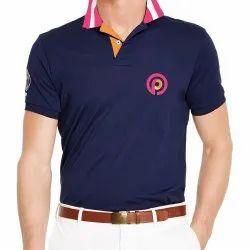 Cotton Half Sleeve Men Polo T Shirt, Size: S-XL