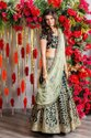 Present Velvet Lahenag Choli With Embroidery Work