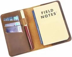 Brown Leather Journal Cover for Field Notes Vintage Leather Notebook Cover, For Office