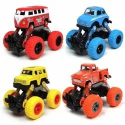 Plastic Pull Back Construction Truck Toy