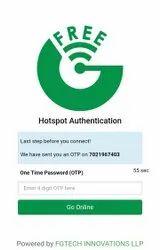 Wireless Otp Based Wifi, In India, 100