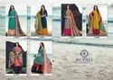 Rupali Fashion Embroidered Jam Satin Salwar Kameez Palazzo Straight Suit