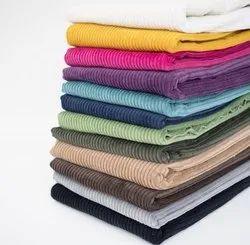 44 Pure Cotton Corduroy Fabric, For Garment, Plain/Solids