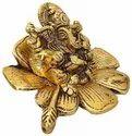 Metal Ganesh Idol Ganesh Sitting On Flower