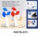 Folding Table USB Fan