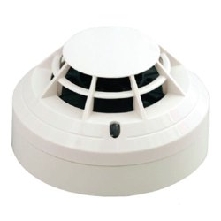 Plastic White Fire Heat Detector, 105 Db