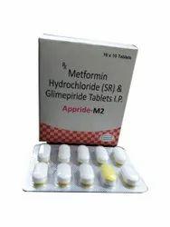 Glimepride 2mg Metrometformin 500mg, Tablet