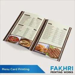 Paper Menu Card Printing Service, in Local, Dimension / Size: A4