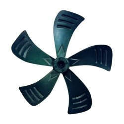 Plastic 16 Inch Black Cooler Fan Blade